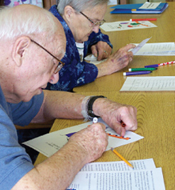 brain stretch activities for seniors to help with memory care at clement manor